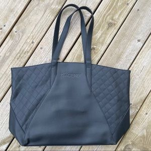 Isagenix leather large tote bag lined NWOT